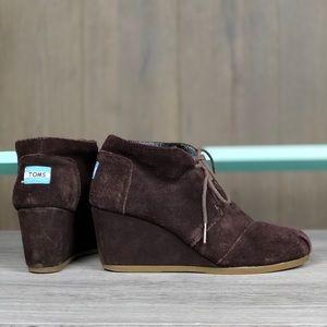 TOMS Women's Wedge Sneaker Shoes ❤️
